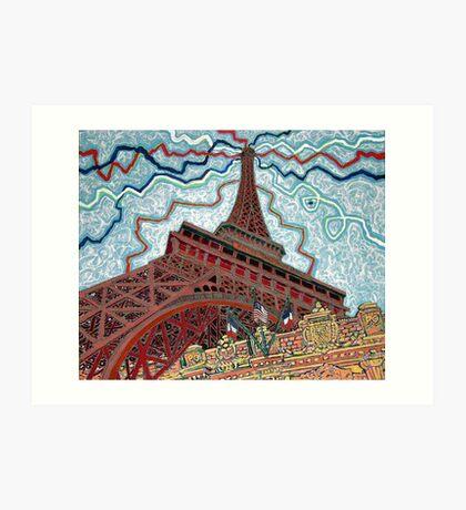 Paris, France, Las Vegas, Nevada, USA Art Print