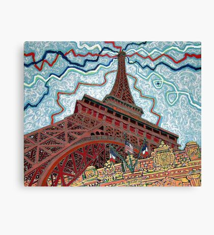 Paris, France, Las Vegas, Nevada, USA Canvas Print