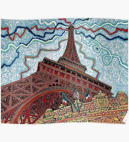 Paris, France, Las Vegas, Nevada, USA Poster