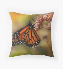 A Monarch Afternoon Throw Pillow