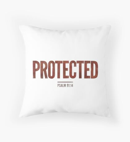 Protected - Psalm 91:14 Floor Pillow