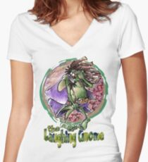 The Laughing Gnome Women's Fitted V-Neck T-Shirt