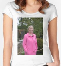 Carol Kirkwood BBC Weather presenter Women's Fitted Scoop T-Shirt
