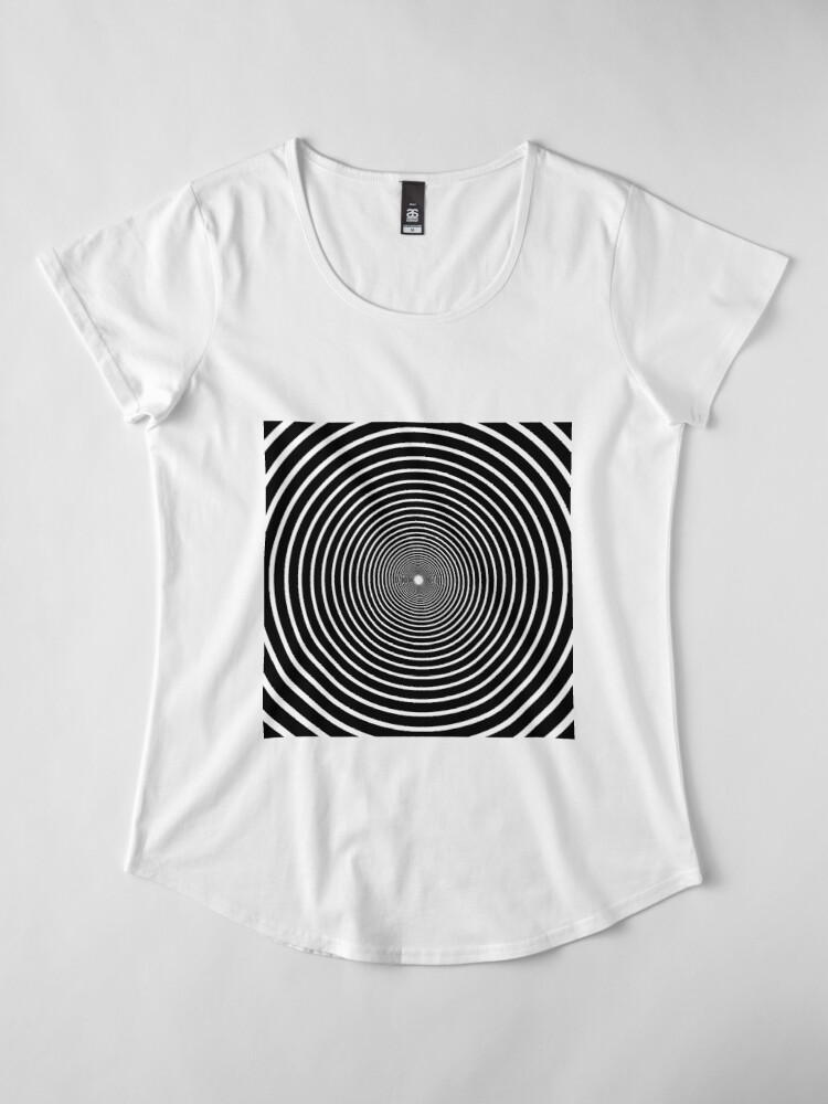 Alternate view of Visual Illusion #VisualIllusion Optical #OpticalIllusion #percept #reality Image Apparent Motion Premium Scoop T-Shirt