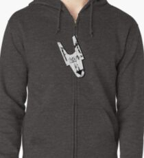 Anytime now Zipped Hoodie