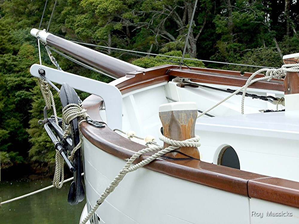 The scow 'Jane Gifford ' New Zealand. by Roy  Massicks