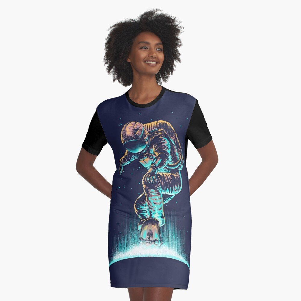Space Grind Graphic T-Shirt Dress
