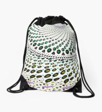 Olives and Wine mandala Drawstring Bag