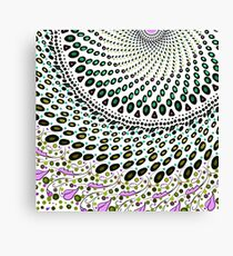 Olives and Wine mandala Canvas Print