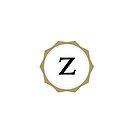 Vintages Monogramm des Buchstabe-Z von Alexander Nedviga