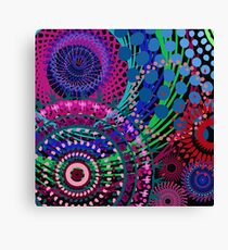 Northern Lights Fireworks mandala Canvas Print
