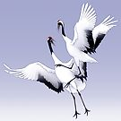 Red-Crowned Crane by Tami Wicinas