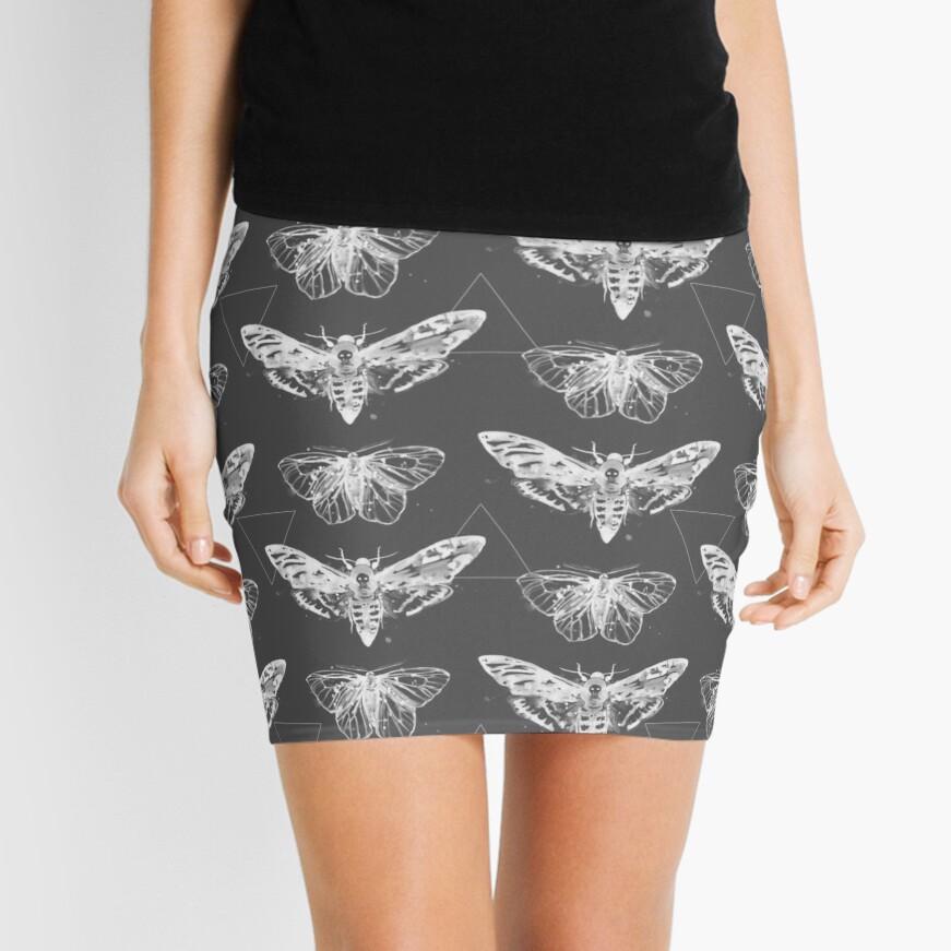 Geometric Moths - inverted Mini Skirt