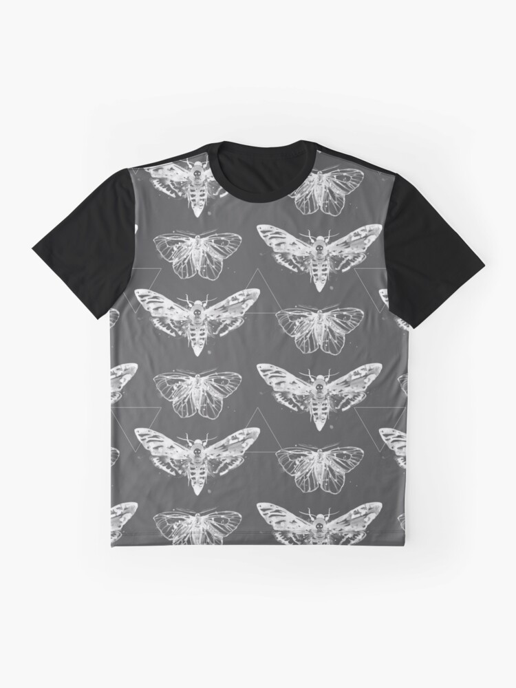Alternate view of Geometric Moths - inverted Graphic T-Shirt