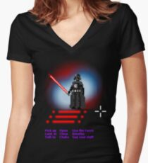 A darth adventure Women's Fitted V-Neck T-Shirt