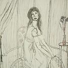 A Young Lady In Her Parlor Waiting On A Guest by Zelli