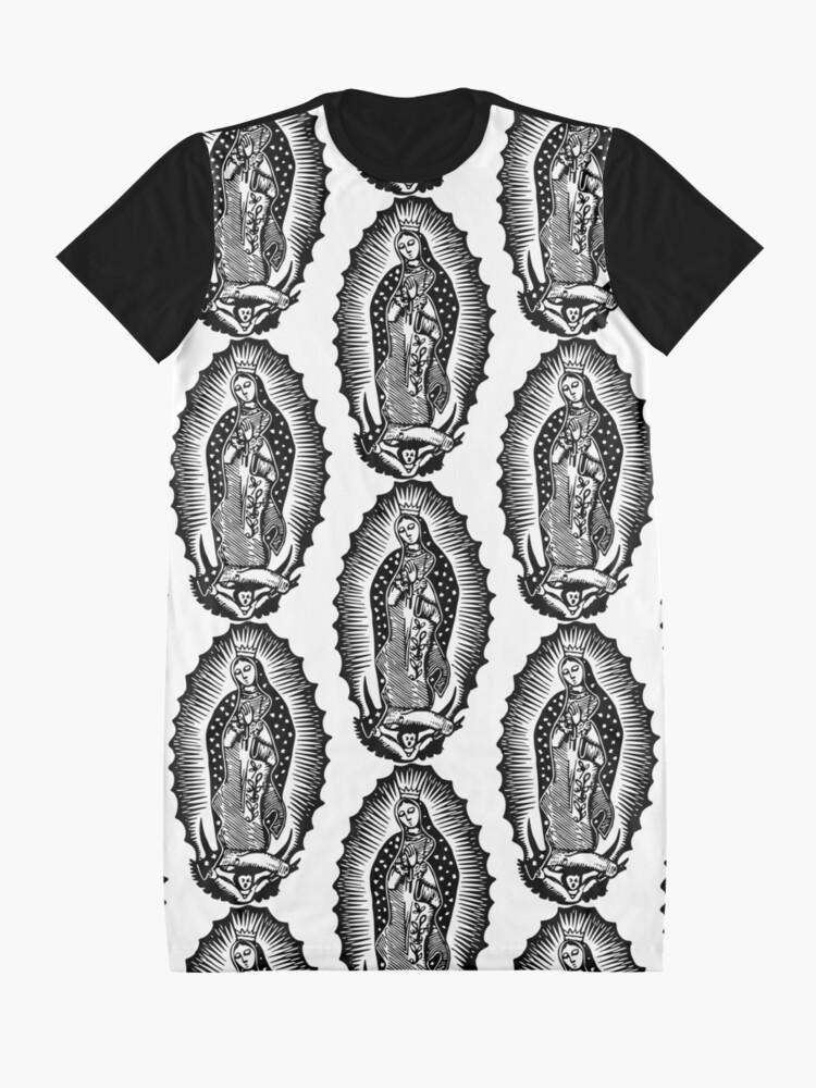 Alternative Ansicht von Virgen de Guadalupe T-Shirt Kleid
