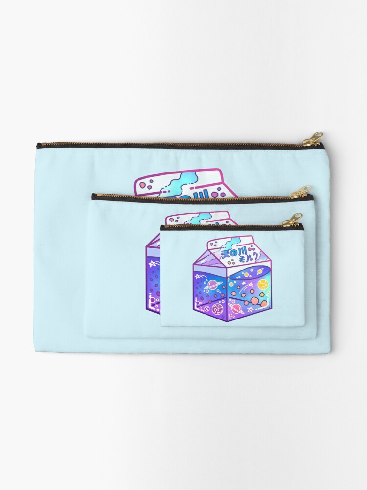 Alternate view of Milky Way Milk Carton Zipper Pouch