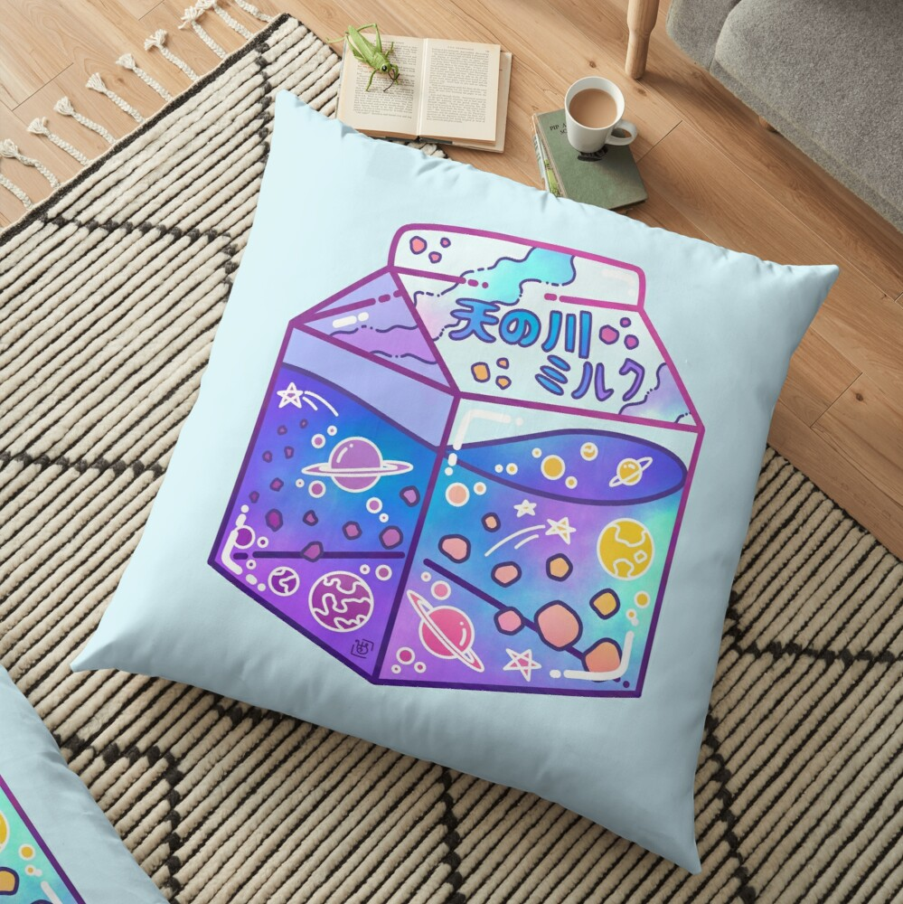 Milky Way Milk Carton Floor Pillow