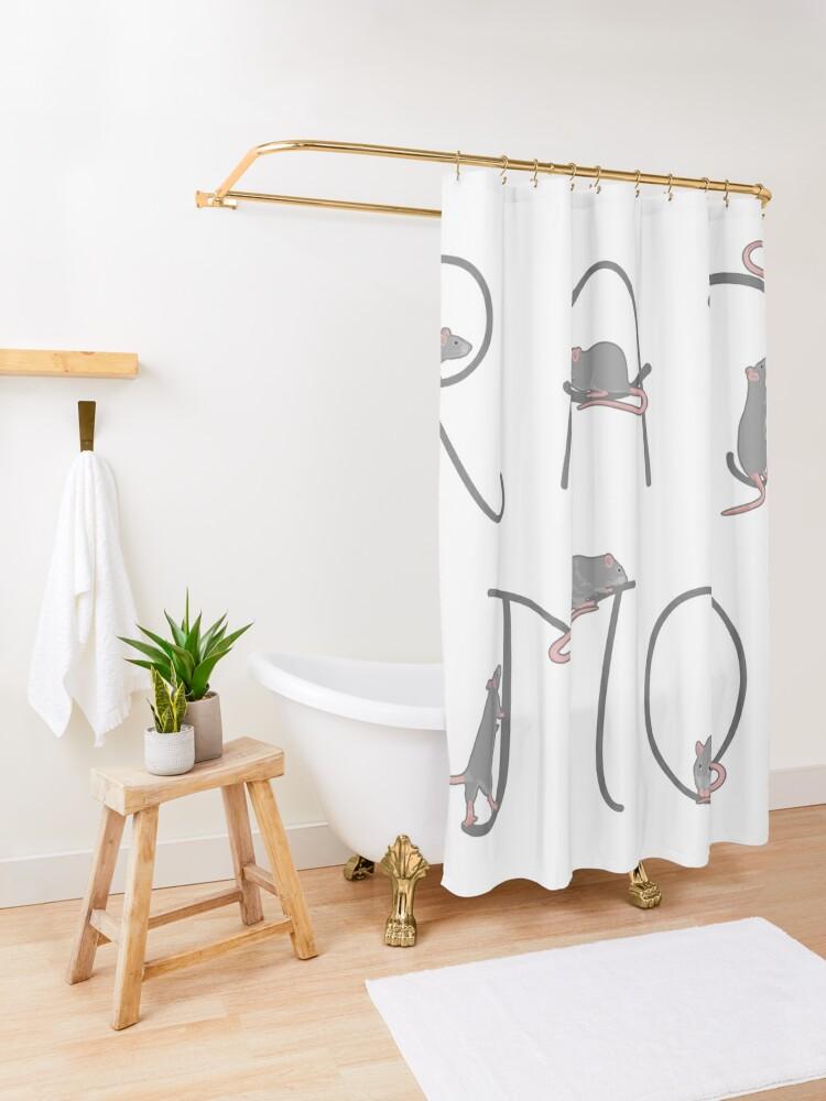 Alternate view of Rat Mom Shower Curtain