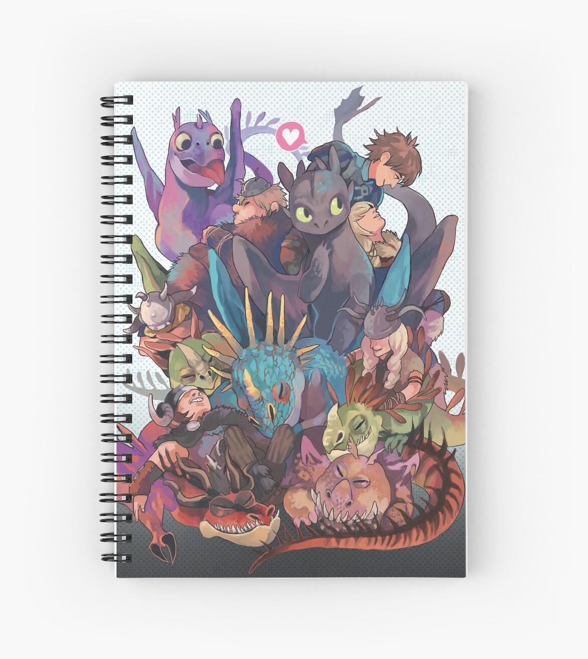 How To Train Your Dragon Spiral Notebooks By Kelpls Redbubble