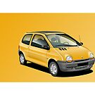 Renault Twingo Poster Illustration by RJWautographics