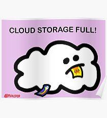 Cloud Storage Full! Poster
