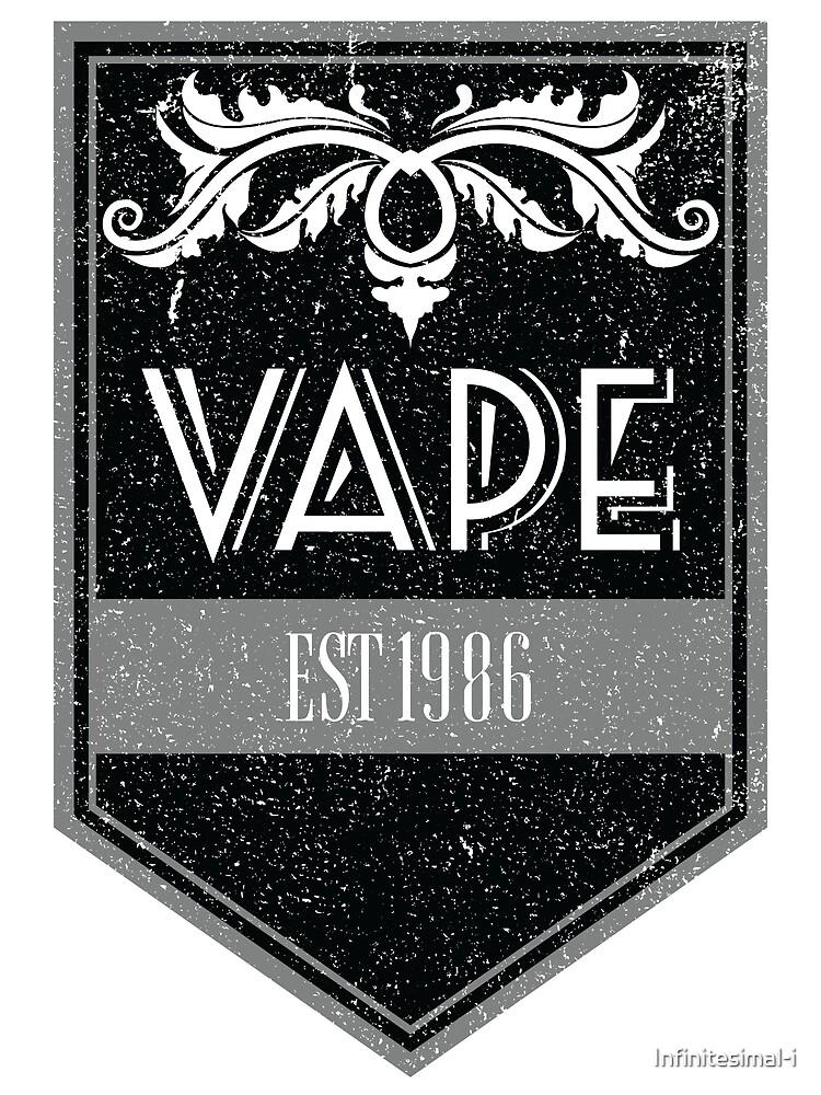 Distressed Vape Est. 1986 Badge (black) by Infinitesimal-i