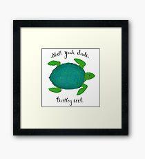 Turtle Pun Framed Print