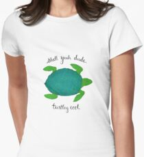 Turtle Pun Fitted T-Shirt