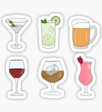 Cocktails and Drinks Sticker
