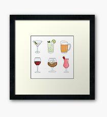 Cocktails and Drinks Framed Print