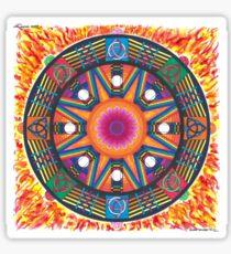 Dharma wheel 2 Sticker