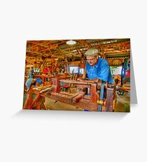 Foot Operated Wood Lathe Greeting Card