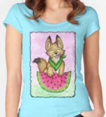 Melon Coyote - Clothing and Stickers! Women's Fitted Scoop T-Shirt