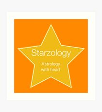 Star Starzology Astrology With Heart Art Print