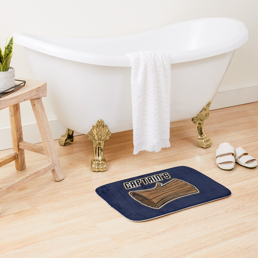 STAR TREK CAPTAINS LOG DESIGN -star trek rb partner program Bath Mat