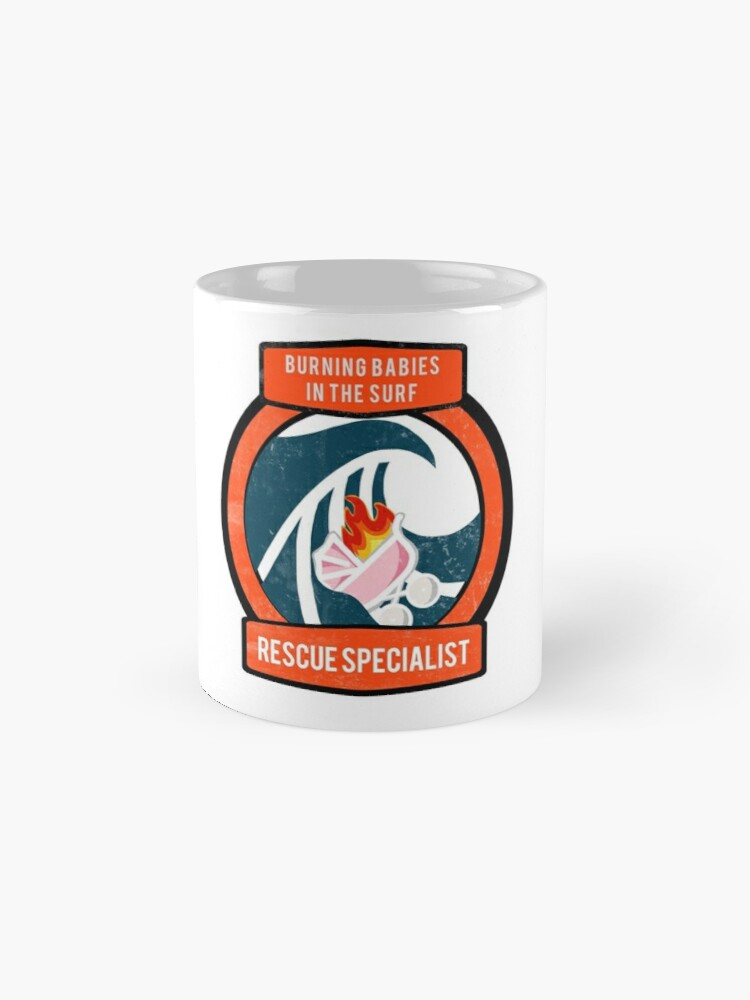 Alternate view of Burning Babies in the Surf Rescue Specialist Mug