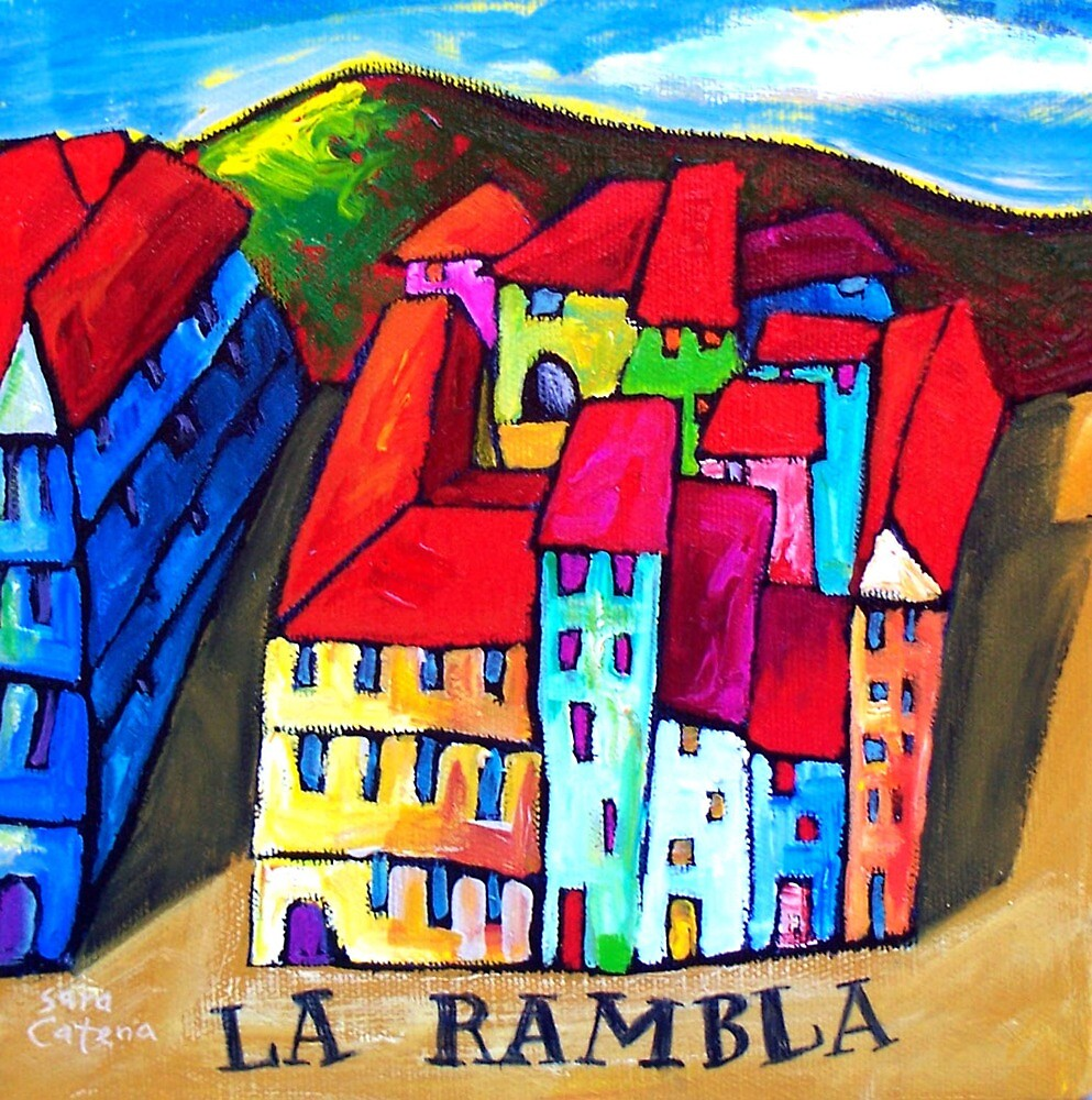 Quot La Rambla Barcelona Spain Quot By Art Prints Online By