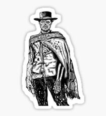The Good The Bad and The Zombie Sticker