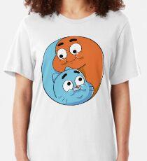 Gumball and Darwin siblings fusion Slim Fit T-Shirt