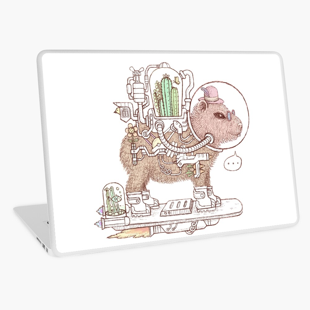 capybara space suits Laptop Skin