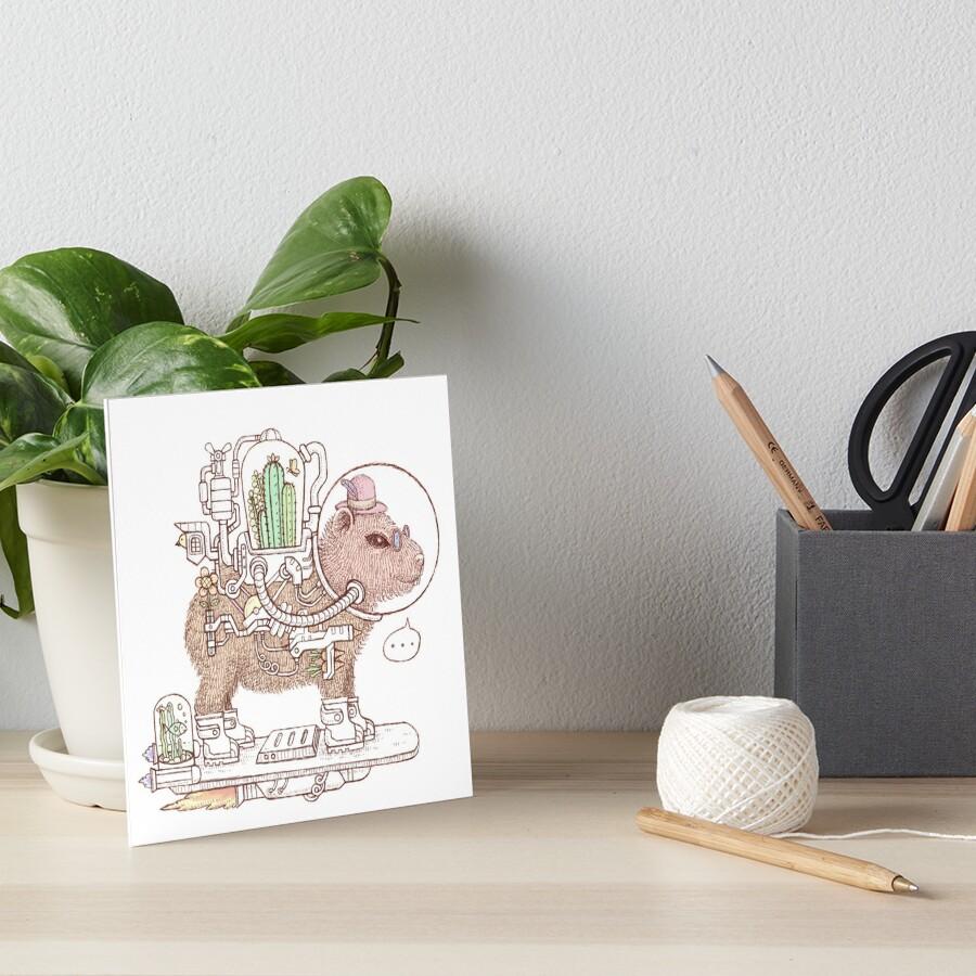 capybara space suits Art Board Print