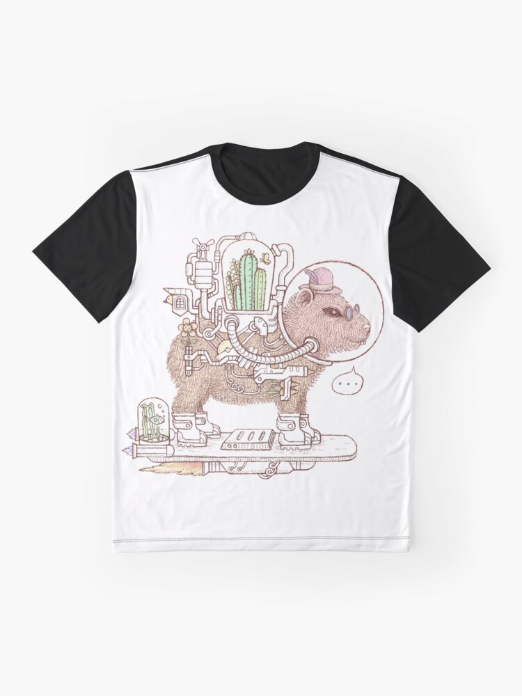 Alternate view of capybara space suits Graphic T-Shirt