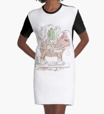 capybara space suits Graphic T-Shirt Dress