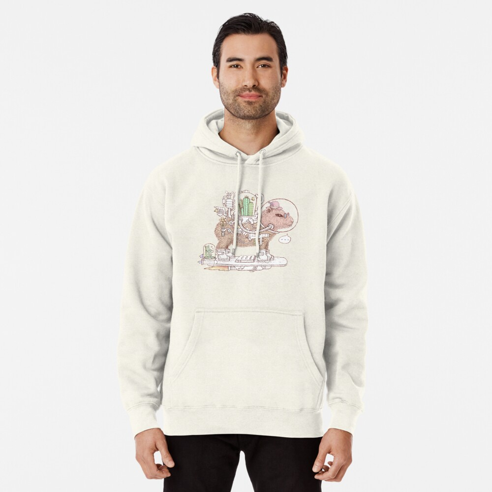 capybara space suits Pullover Hoodie