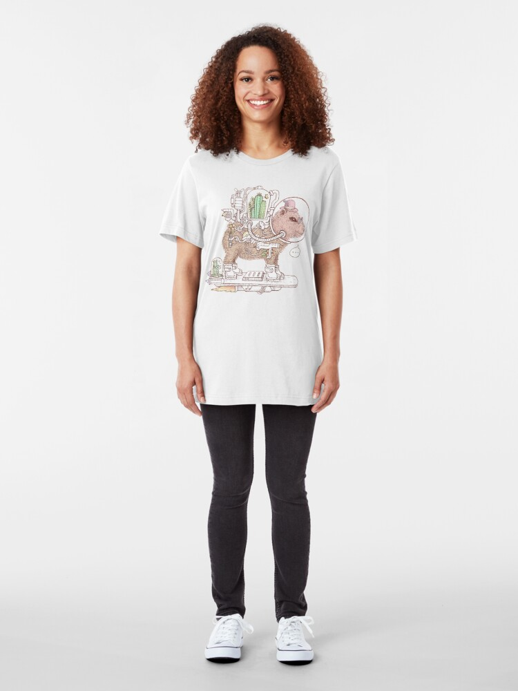 Alternate view of capybara space suits Slim Fit T-Shirt
