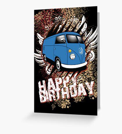 Volkswagen Birthday Card- Split Panel Greeting Card
