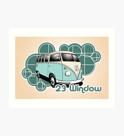 Volkswagen Print- 23 Window Samba  Art Print