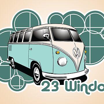 Volkswagen Print- 23 Window Samba  by KombiNation